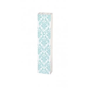 Dorit Judaica Lucite Mezuzah Case Fleur De Lys Design - Blue and White