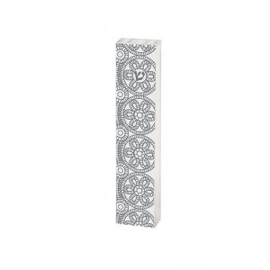 Dorit Judaica Lucite Mezuzah Case Pomegranate Spirals and Flowers - Gray