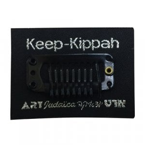Keep-Kippah - Hidden Black Kippah Clips with adhesive