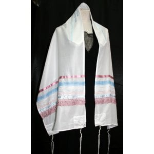 Pastel Stripe Tallit Set by Ronit Gur