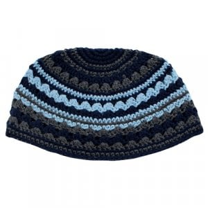 Frik Kippah in black, blue and gray