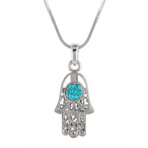 Hamsa Necklace with Turquoise Stones
