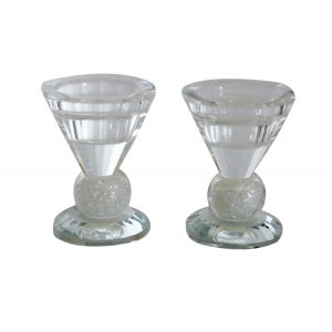 Crushed Glass Crystal Candlesticks