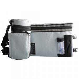 Set, Insulated Tefillin Holder and Weatherproof Tallit Bag - Light Gray