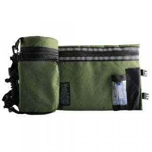 Set, Insulated Tefillin Holder and Weatherproof Tallit Bag - Olive Green
