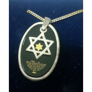 Silver Song Of Ascents Star of David Pendant - 1 In stock