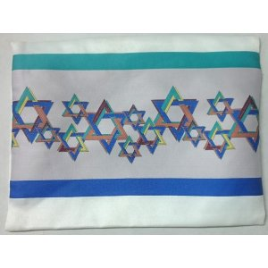 Lively Stars of David Tallit Bag