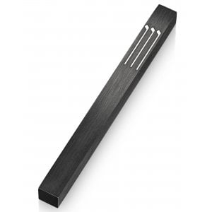 Adi Sidler Musical Notes Stylized Shin Mezuzah Case - Black