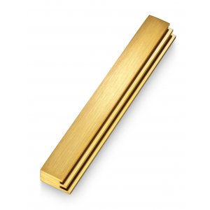 Adi Sidler Laser Cut Steps Design Mezuzah Case - Gold
