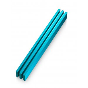 Adi Sidler Vertical Laser Cut Channels Mezuzah Case - Turquoise