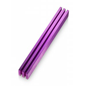 Adi Sidler Vertical Laser Cut Channels Mezuzah Case - Purple