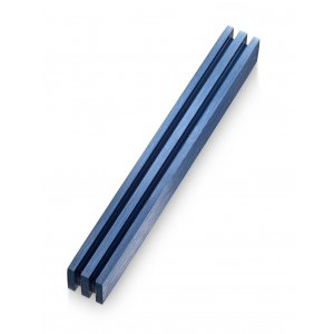 Adi Sidler Vertical Laser Cut Channels Mezuzah Case - Blue