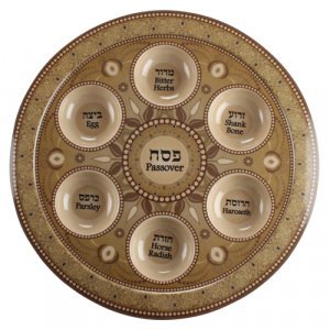 Decorative Bamboo Seder Plate