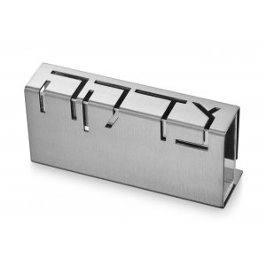Adi Sidler Contemporary Anodized Aluminum Charity Tzedakah Box - Silver
