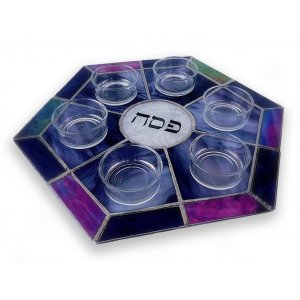 Stained Glass Seder Plate by Friekmanndar