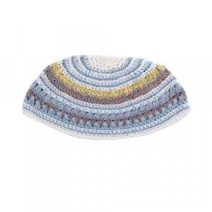 Frik Kippah in Light Colored Stripes