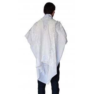 Talitnia Gilboa Light Weight Non Slip Tallit Wool Tallit Prayer Shawl - White Stripes