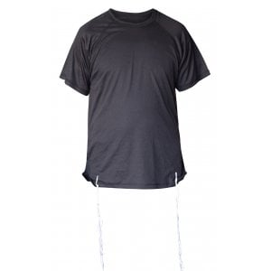 Talitnia Dry-Fit Tzitzit T-shirt With Kosher Tzitzis - Black