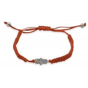 Red Braided String Hamsa Kabbalah Bracelet