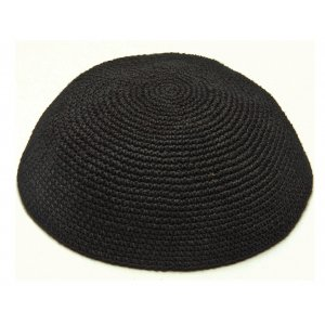 Sheer Black knitted Kippah