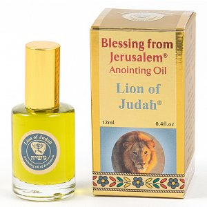 Gold Series Blessing from Jerusalem - Lion of Judah Anointing Oil 0.4 fl.oz (12ml)