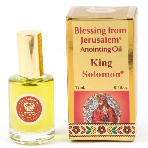 Gold Series Blessing from Jerusalem - King Solomon Anointing Oil 0.4 fl.oz (12ml)