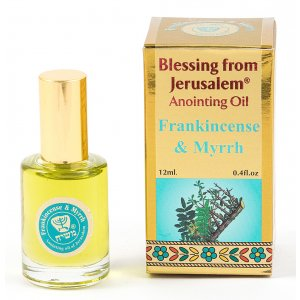 Gold Series Blessing from Jerusalem - Frankincense & Myrrh Anointing Oil 0.4 fl.oz (12ml)