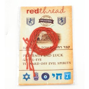 Five Red Thread Bracelets Against the Evil Eye - from Israel