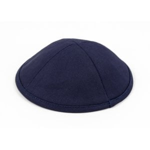 Navy Cloth Kippah with Attached Clip