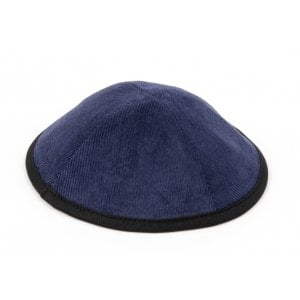 Corduroy Kippah with Attached Clip