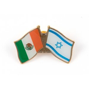 Israel-Mexico Flags Lapel Pin