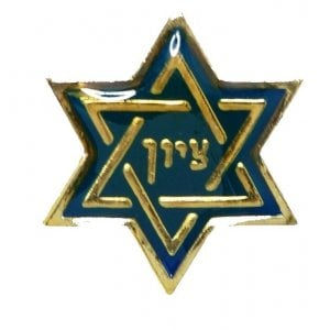 Star of David Zion Lapel Pin