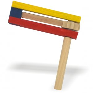 Colorful Wooden Purim Grogger for Children