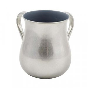 Yair Emanuel Stainless Steel Netilat Yadayim Wash Cup - Silver