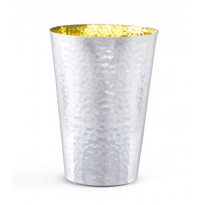 Sterling Silver Shabbat Kiddush Cup - Hammered