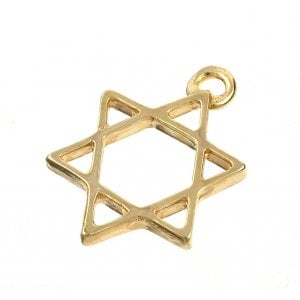 AJDesign Classic 24k Gold-Plated Star of David Charm Pendant