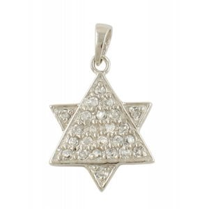 Sterling Silver Zirconium Star of David Pendant