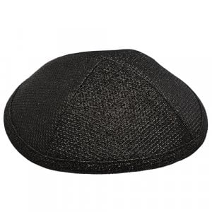 Black Fabric Cloth Kippah