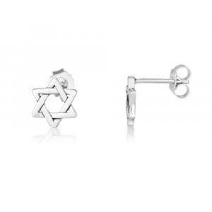 Sterling Silver Stud Earrings - Star of David