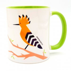Barbara Shaw Coffee Mug, Colorful Hoopoe - Israel's National Bird