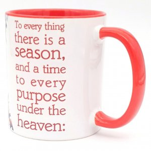 Barbara Shaw Coffee Mug with A Time and Season for Everything - Red