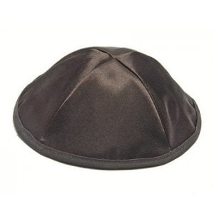 Black Satin Kippah