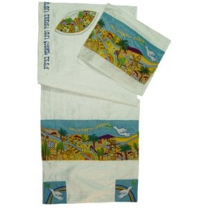 "Rikmat Elimelech Silk ""Dove of Peace"" Tallit"