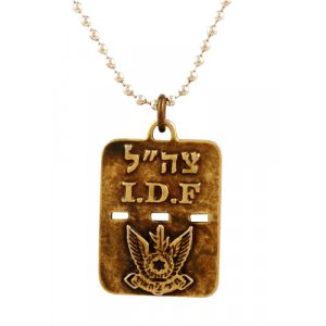 Israeli Army Dog Tag Bronze Pendant - Air Force