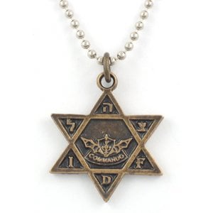 Israeli Army Star of David Bronze Pendant - IDF Commando symbol
