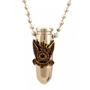 Israeli Army Bullet Metal Pendant - Air Force Symbol