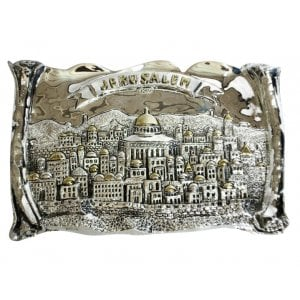 "Silver Plated ""Jerusalem"" Wall Hanging"