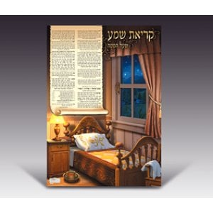 Lamintated Colorful Wall Poster - Nightly Shema Prayer