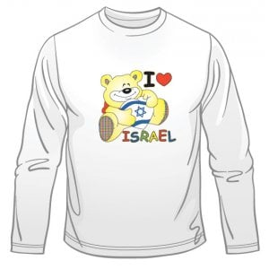 I Love Israel Teddy Long Sleeved T-Shirt