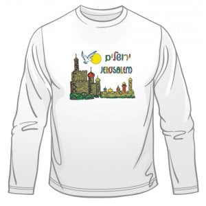 Dove of Peace Jerusalem Long Sleeved T-Shirt